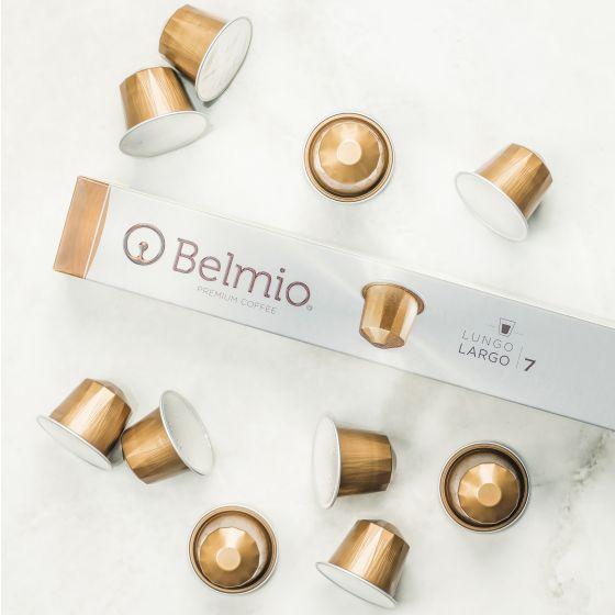 Capsules Belmio « Largo » de première qualité compatibles avec Nespresso