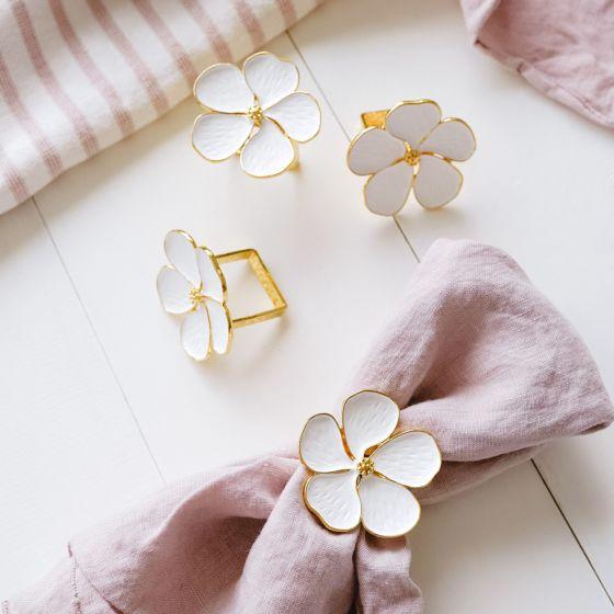 Ensemble de 4 anneaux de serviette «Daisy»
