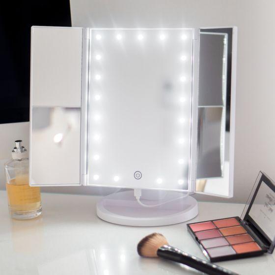 Miroir DEL à 3 panneaux