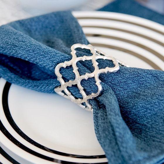 Lattice Silver Napkin Ring