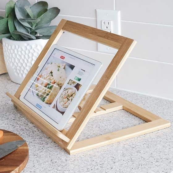Bamboo Recipe Book Holder