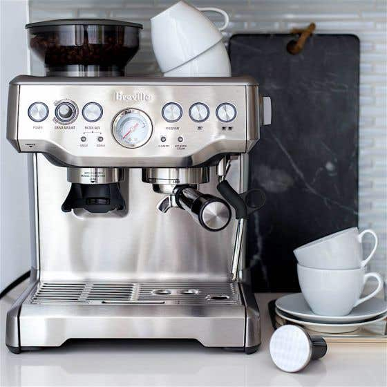 Breville Barista Express Silver Espresso and Cappuccino Machine