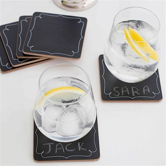 Set of 6 Chalkboard Coasters