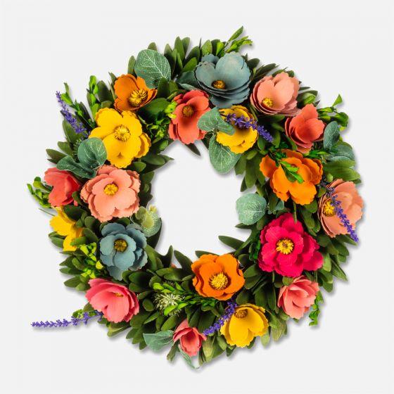 Couronne de fleurs rustiques