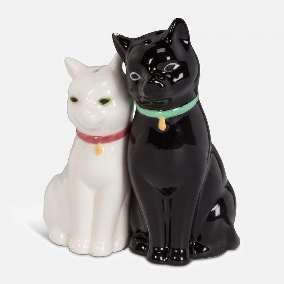 Ensemble de salière et poivrière«chats câlins»