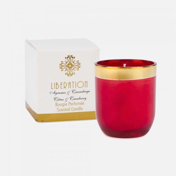 Bougie parfumée agrumes et canneberge Liberation - Petite
