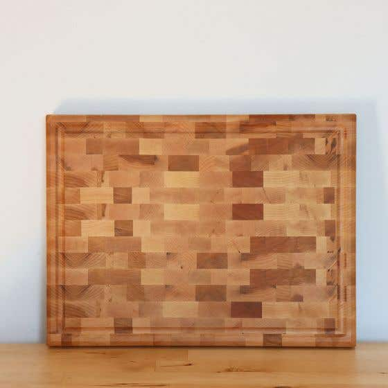 Maple Butcher Block Cutting Board with Groove