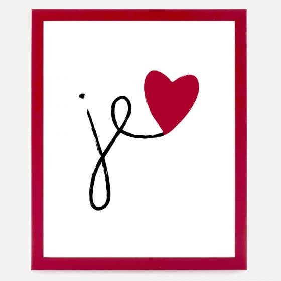"""Red Heart Picture and Frame - 8 x 10"""""""