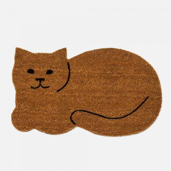 Paillasson chat au repos