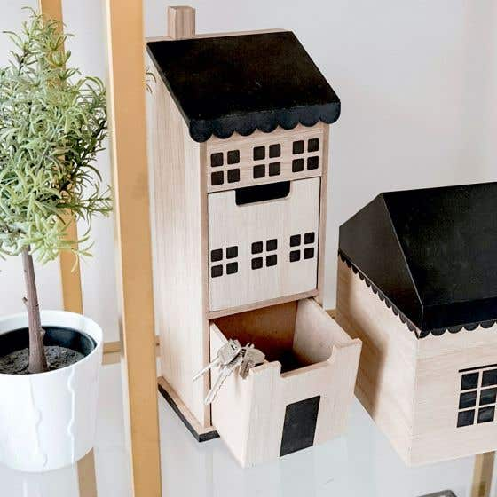 Decorative House with 2 Drawers