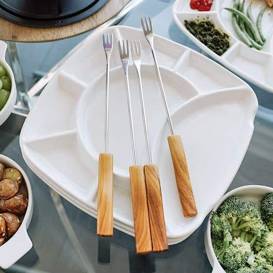 Set of 6 Fondue Forks by CL Cuisiluxe