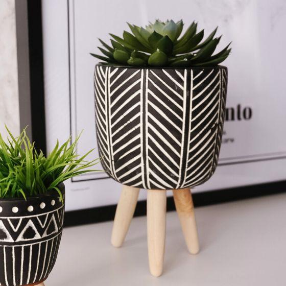Cache-pot collection « Herringbone »