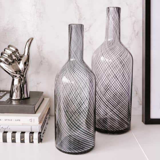 Santo Swirl Bottle Vase Collection by Torre & Tagus