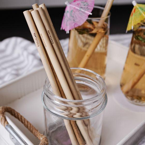 Ensemble de 4 pailles en bambou naturel