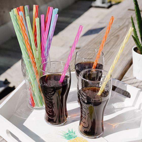 Set of 24 Rainbow Reusable Straws
