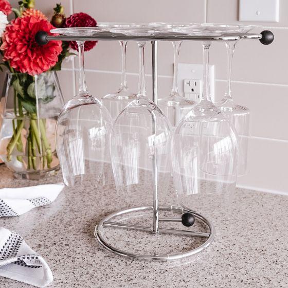 Support verre à vin et décanteur