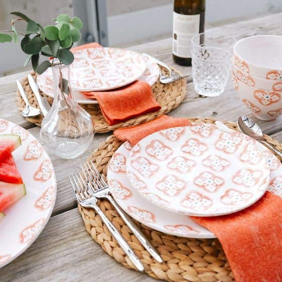 Bargello Pink Dinnerware Collection