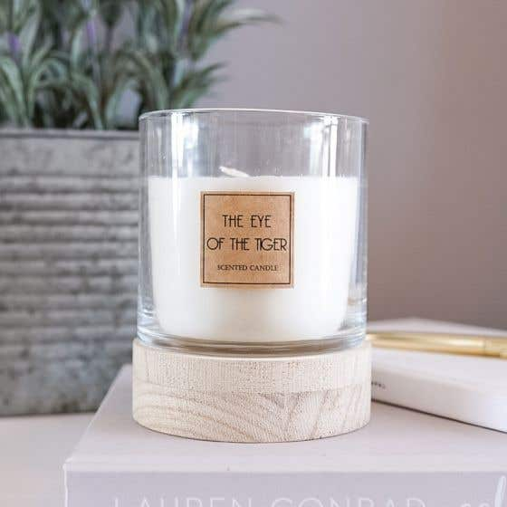 The Eye of the Tiger Scented Candle with Natural Base