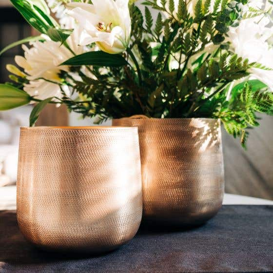 Gold Planter by LC Maison