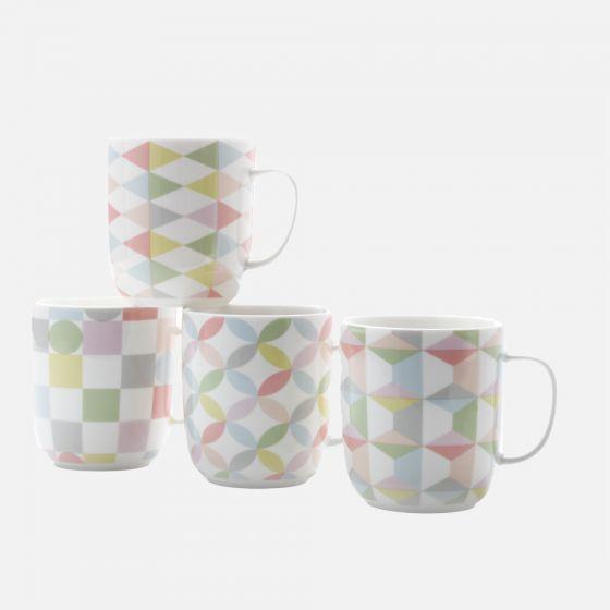 Set of 4 Geoclectic Mugs