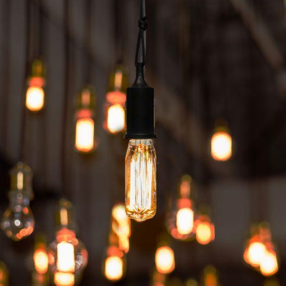 Lampe suspendue Edison à ampoule en forme de tube
