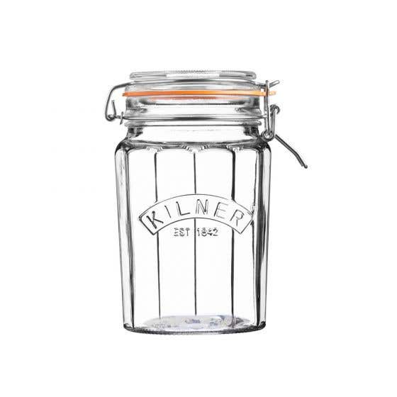 Facetted Clip Top Jar 950 ml by Kilner