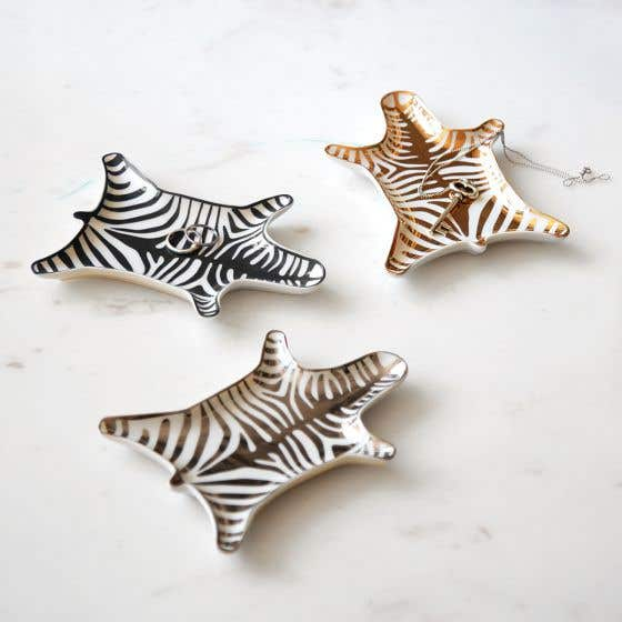 Jonathan Adler Small Zebra Dishes
