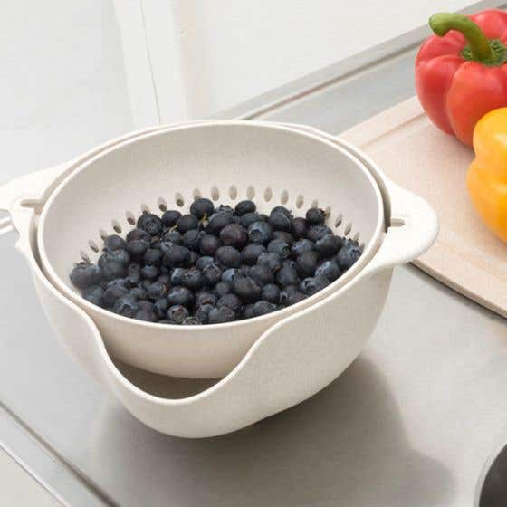 Eco 2-in-1 Colander and Bowl Set by Gourmet - 1.8 L
