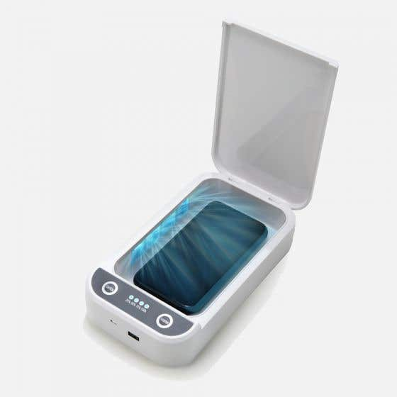 Boîte désinfectante portative à rayons UVC par Travelon