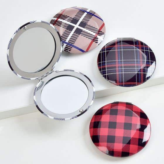 Assorted Plaid Compact Mirror by Avenue 9