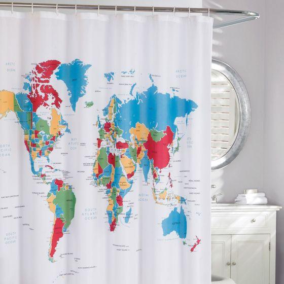 Global Fabric Shower Curtain