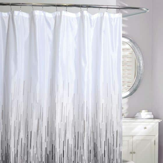 Rain Fabric Shower Curtain