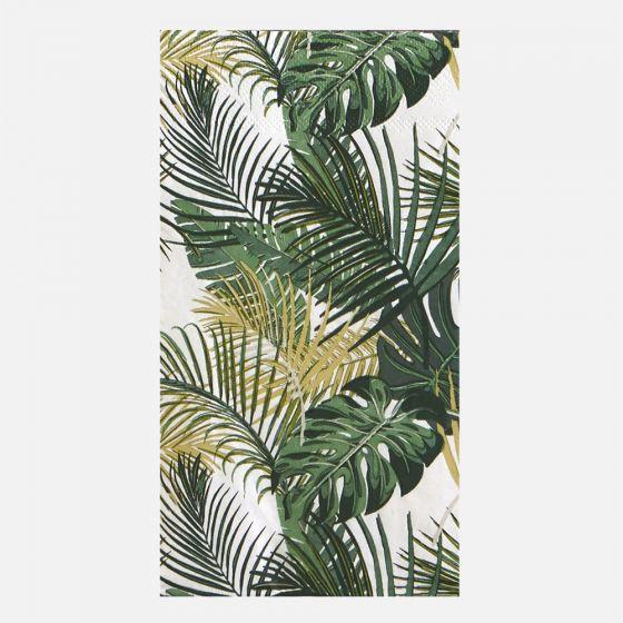 Paquet de 16 serviettes d'invité « Palm Leaves »