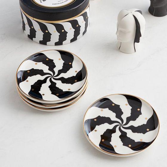 Set of 4 Jonathan Adler Atlas Coasters
