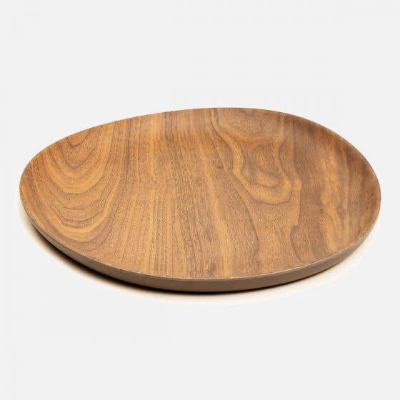 Bamboo Walnut Coffee Plate