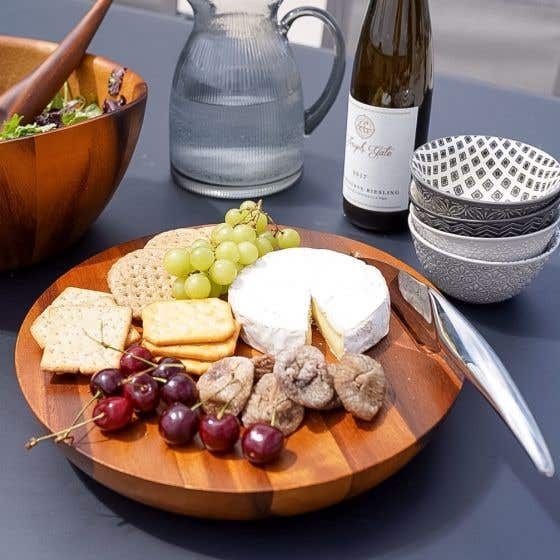 Harmony Cheese Board and Knife Set by Nambe