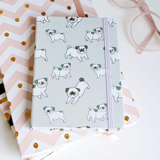 Cat and Dog Motif Notebook