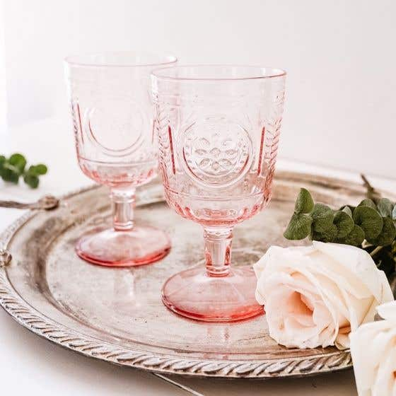 Ensemble de 4 verres à vin «Romantic» - rose
