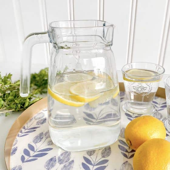 Square Glass Jug by Pasabahce
