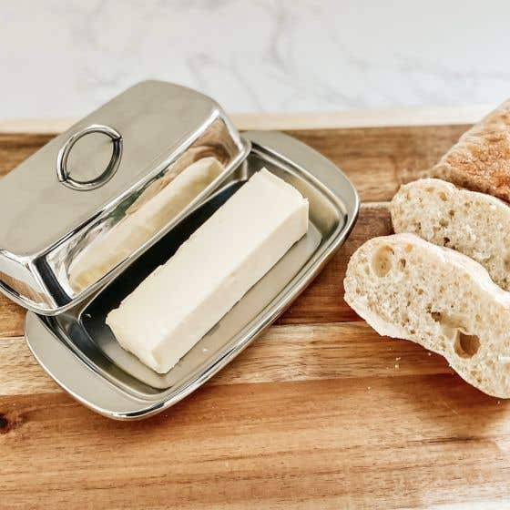 Rectangular Butter Dish with Cover