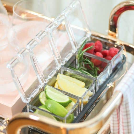 Compartment Tray for Bar Garnishes by Final Touch