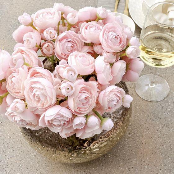 Mini bouquet de renoncules - rose (10 po)