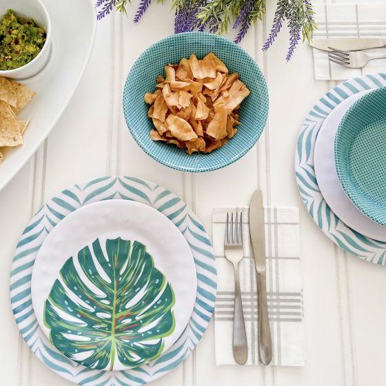 Ensemble de vaisselle 12 pièces «Tropical Aqua»