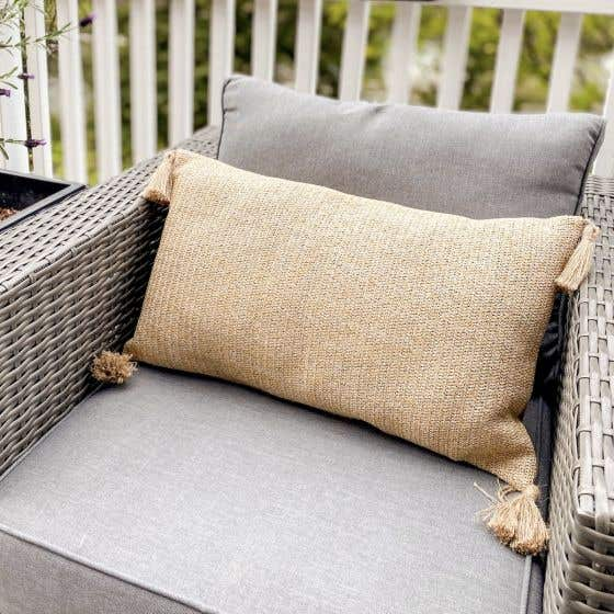 Raffia Tassle Cushion