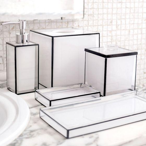 Accessoires de salle de bain collection «Black & White»