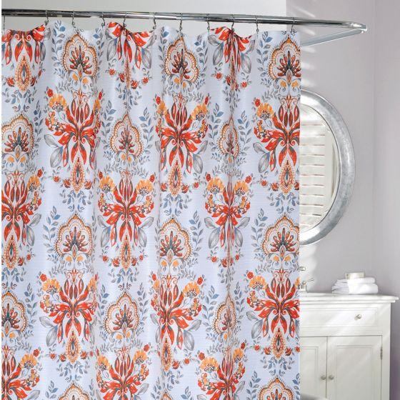 Leaf Motif Shower Curtain