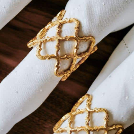Lattice Gold Napkin Ring
