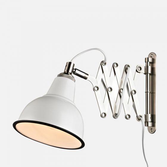 Lampe murale blanche ajustable en métal par Luce Lumen