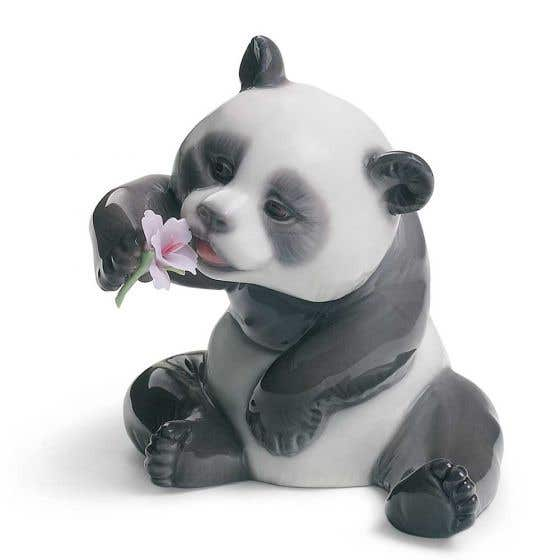A Cheerful Panda by Lladro