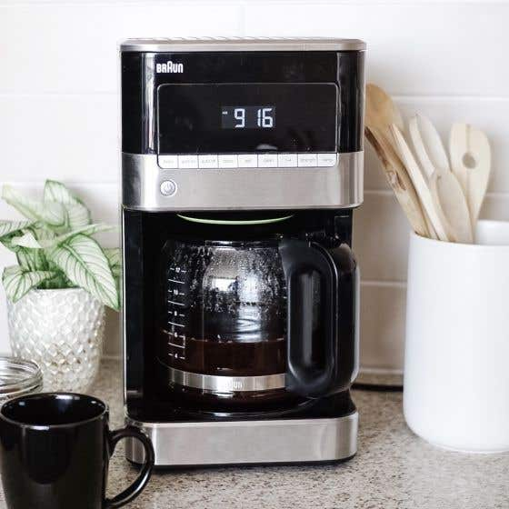 Braun Coffee Machine in Stainless Steel/Black